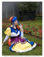 Luna in Ghaleon's pixie garden by MandyNeko