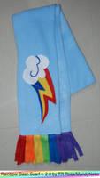 Rainbow Dash scarf - 20percent cooler - or warmer by MandyNeko