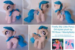 Firefly G1 My Little Pony plush by MandyNeko