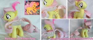 Rosedust G1 Flutter Pony Plush by MandyNeko