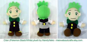 Cilan plush - Pokemon Black/White by MandyNeko