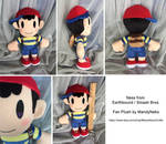 Ness from Earthbound / Smash Bros plush doll by MandyNeko