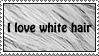 Stamp - White hair love by NocturnalKitten