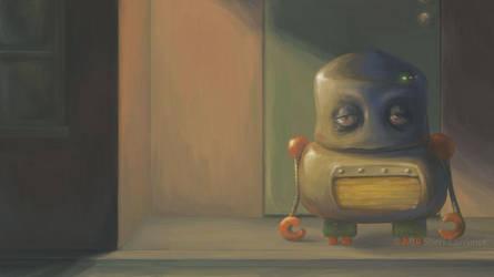Sleepy Robot by laterose
