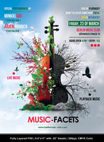 Music Facets Flyer by Minkki2fly