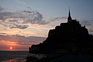 Sunset Over Mont-St. Michel by Adevoh