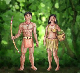 Churakura Man and Woman by SkyJaguar