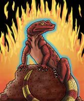 Fire Salamander by SkyJaguar