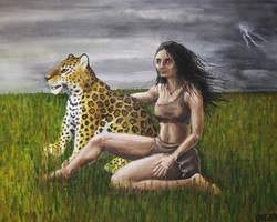 Ember and Jaguar by SkyJaguar