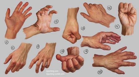 Hand Study 2 by irysching
