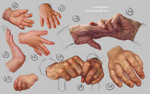 Hand Study 3 - Young and Old by irysching