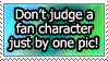 Stamp: don't judge our characters! by Jeshika-Haruno