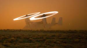 MV-22 Osprey In The Dust by GeneralTate