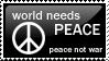 world need peace stamp by seisuzy