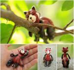 Sleeping Red panda (FireFox) by SmallVixen