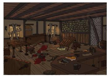 Medieval Zombie Apocalypse - Tavern by mhofever