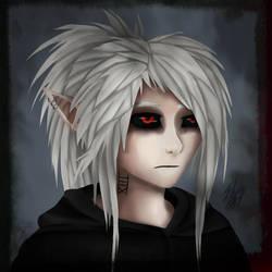 Scarlet/TwistedMonster - Human form by xFallingSkyx