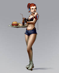 waitress character by CapAmerica13