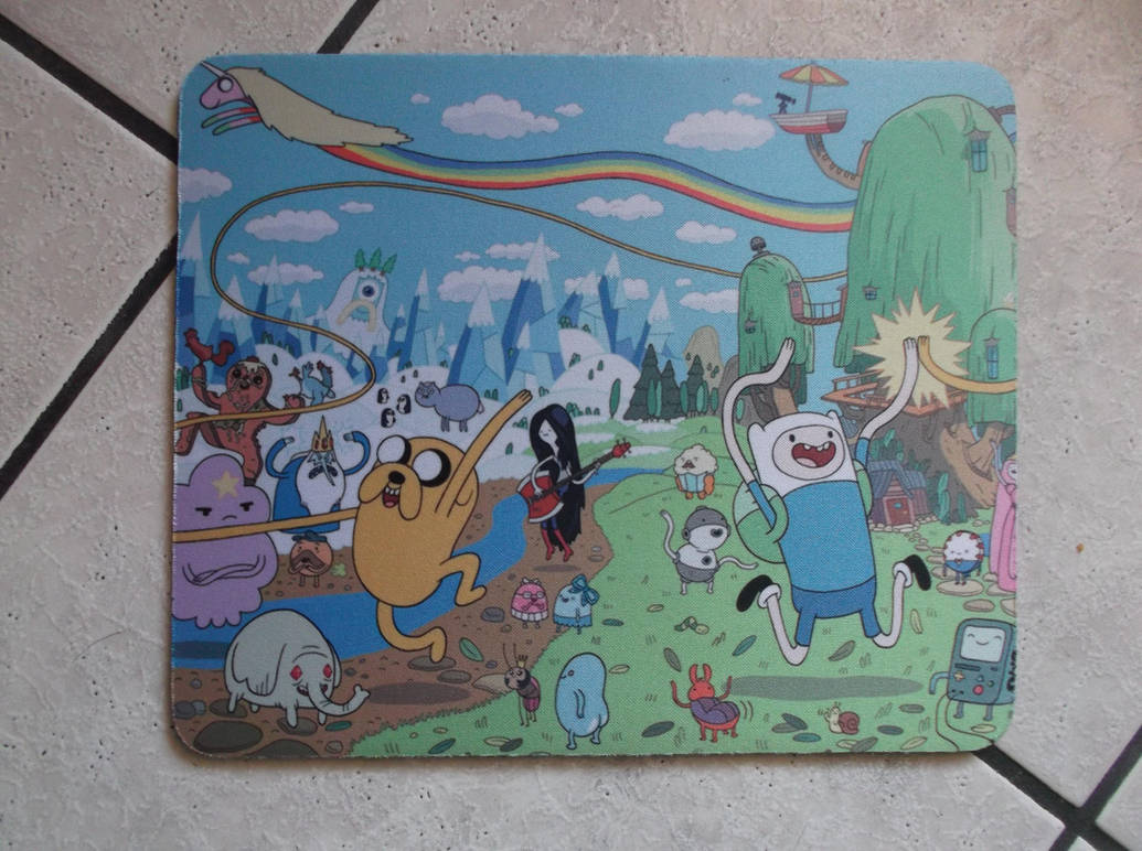 adventure time mouse pad by smittywerbenjagerma on deviantart