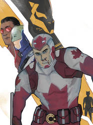 There's no turning back for Captain Canuck! by Moehypertunapyun00