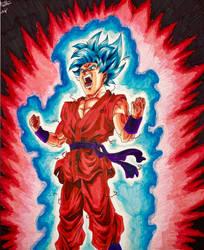 Super Saiyan Blue Kaio-Ken Goku by Nathan319craft