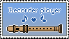 Recorder player - stamp by Duposlava