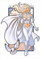 Emma Frost: Hail the Queen by ChrisEvenhuis