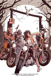 Wynonna Earp Season Zero #1 Cover by ChrisEvenhuis