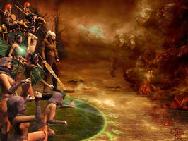 The Battle of Lismodon - 2 by Erulian