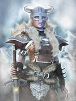 Daughters of Skyrim : The Dovahkiin by Erulian