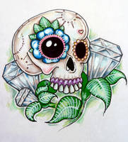 Candy Skull Diamonds by ponychops