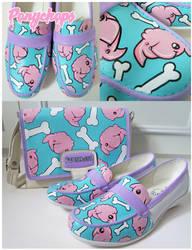 Pink Poodle Mocassins by ponychops