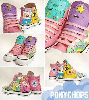 Adventure Time High Tops by ponychops