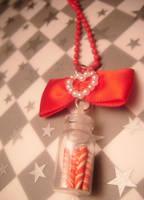 peppermint candies necklace by leggsXisXawsome