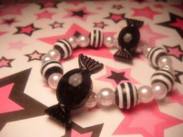 black candy bracelet by leggsXisXawsome