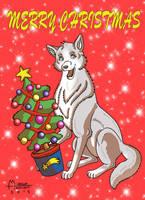 Merry Christmas by RUNNINGWOLF-MIRARI