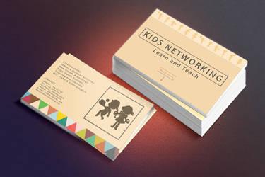 Kids Networking Business Card by NikCompany