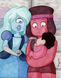 Ruby and Sapphire Week: Day One by NancyKsu