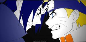 Naruto and Sasuke(Line Art) by meghashreedas