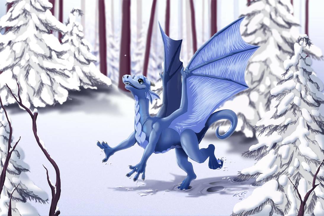 First Snow by suzidragonlady