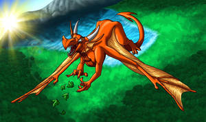 Silly Dragon In The Sky by suzidragonlady