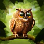 Eurasian Eagle-Owly by suzidragonlady
