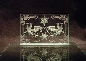 Dragon Chinese Theme etching by ImaginedGlass