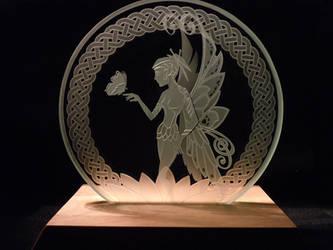 Butterfly Fairy Glass Art Etch by ImaginedGlass