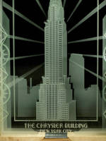 The Chrysler Building etched glass layers by ImaginedGlass