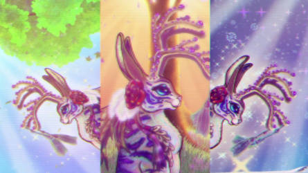 4 Seasons Jackalope Final FILM 3 screen split stil by BlackUniGryphon