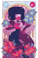 Precious Crystal Gems - Garnet by missypena
