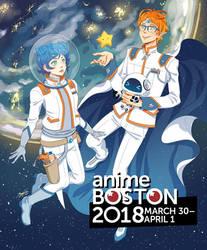 Anime Boston 2018 Program Cover by missypena