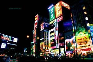 Tokyo - Night - Shinjuku by happy-colors