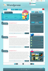 Wordpress Two by sinthux by webgraphix
